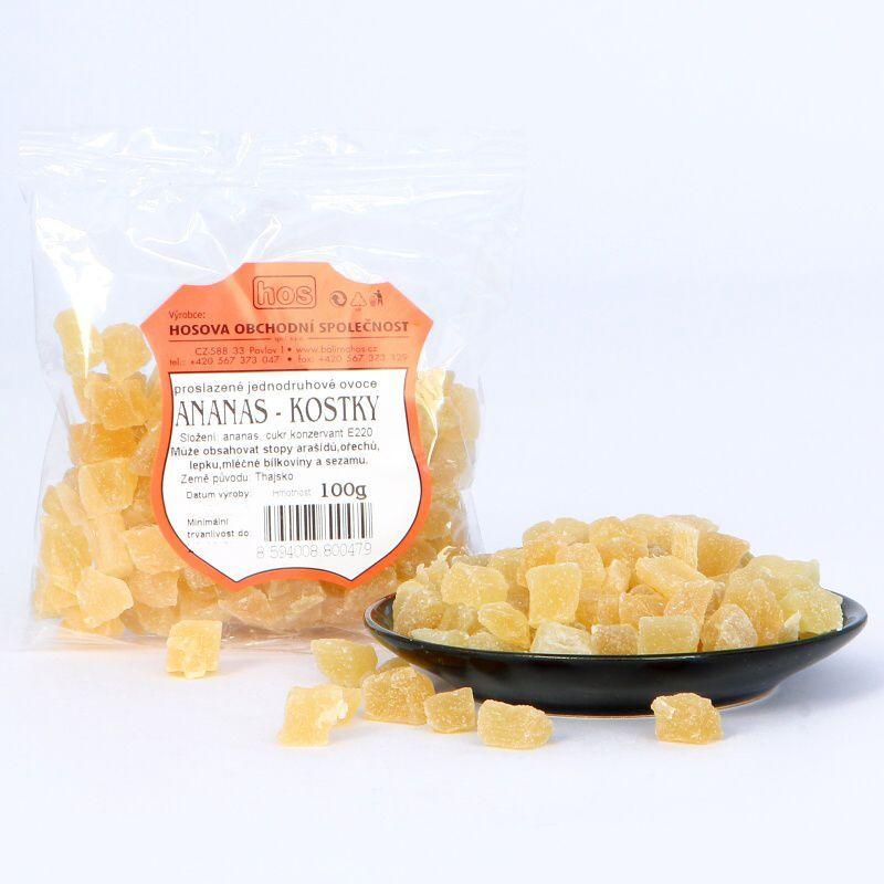 Ananas – kostky 100g