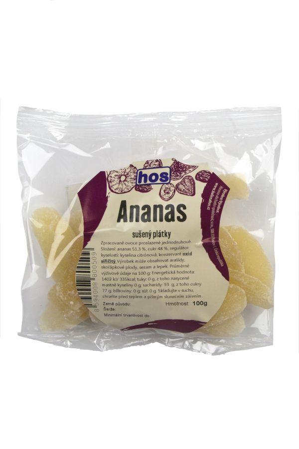 Ananas sušený plátky 100g