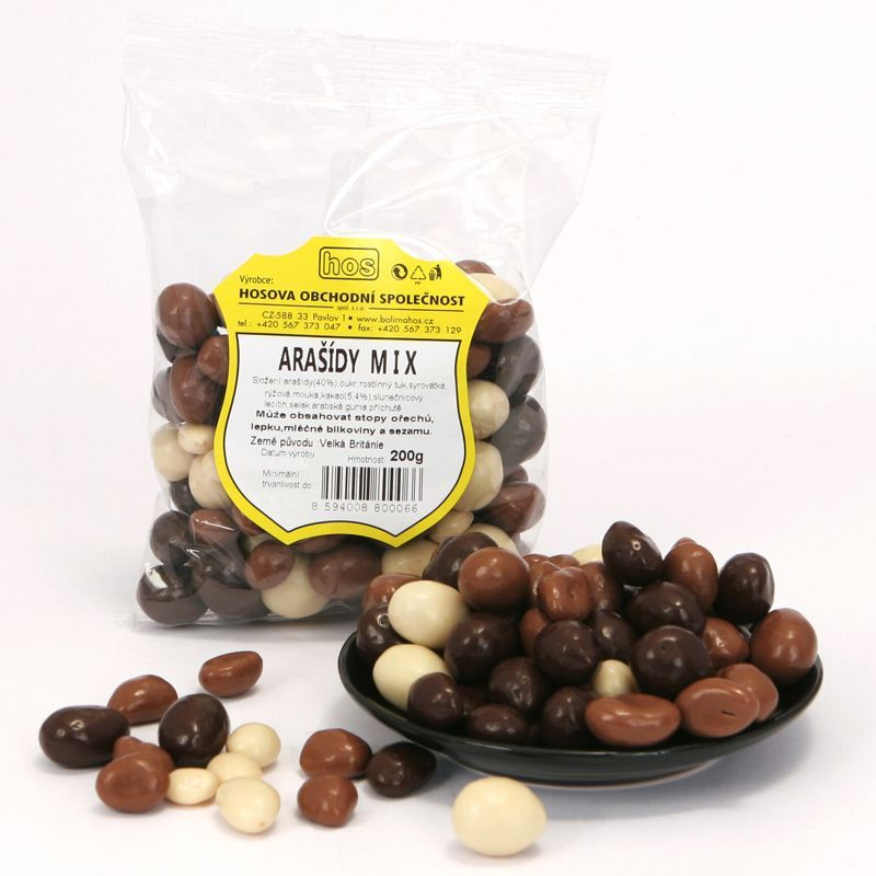 Arašídy dražované mix 200g