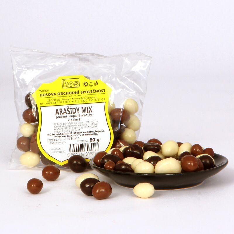 Arašídy dražované mix 80g