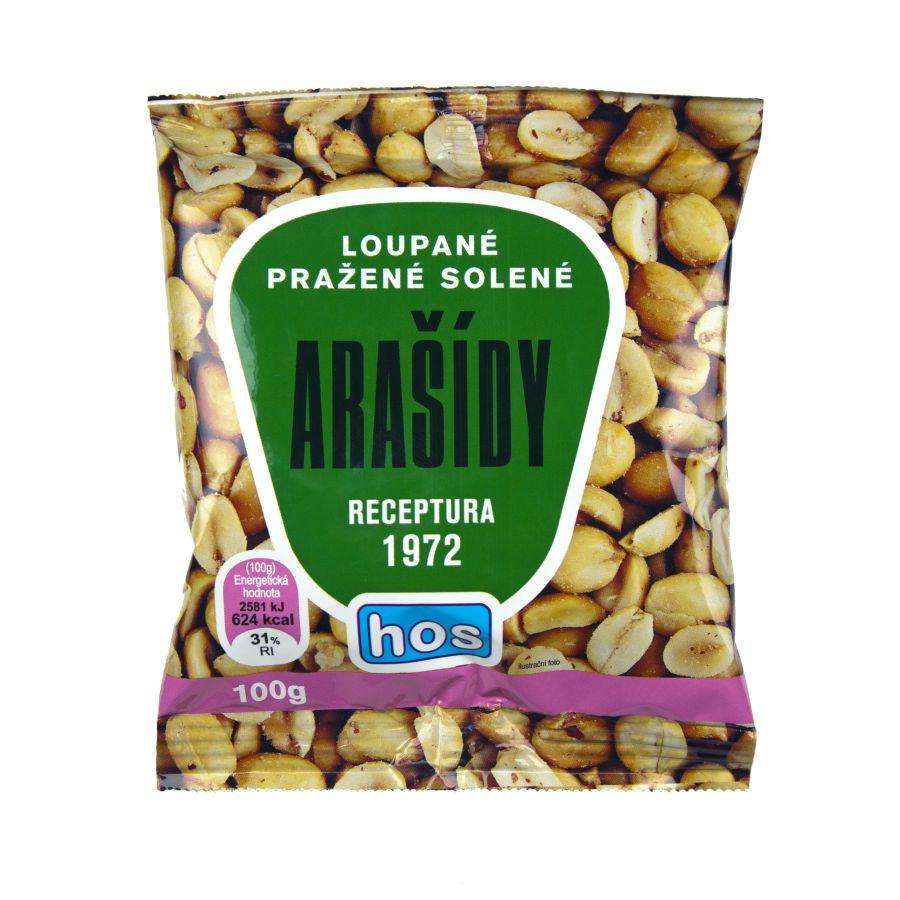 Arašídy loupané pražené solené RETRO 100g