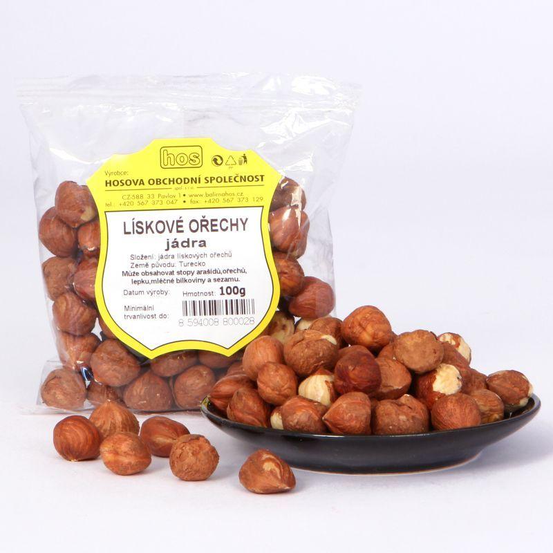 Lískové ořechy – jádra 100g