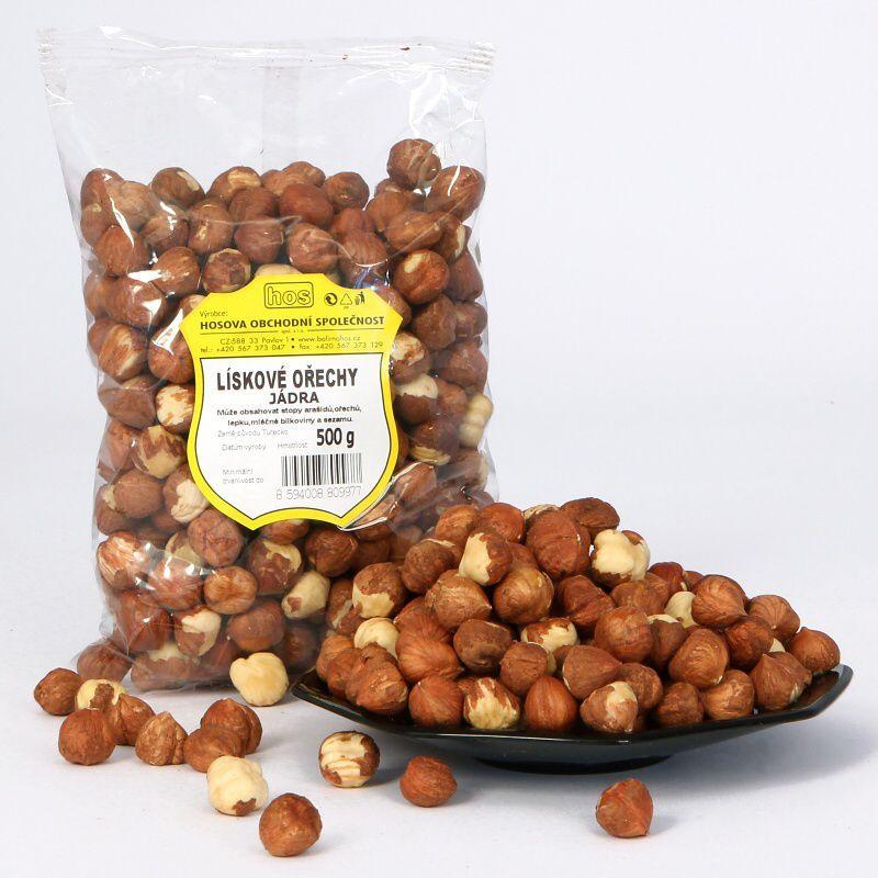 Lískové ořechy – jádra 500g