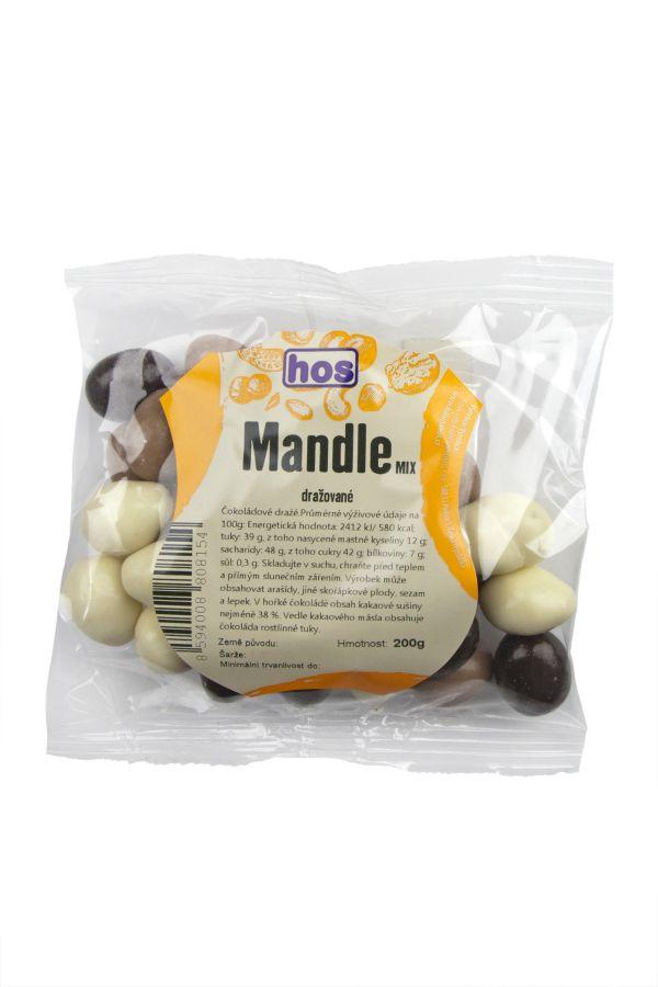 Mandle dražované mix 200g