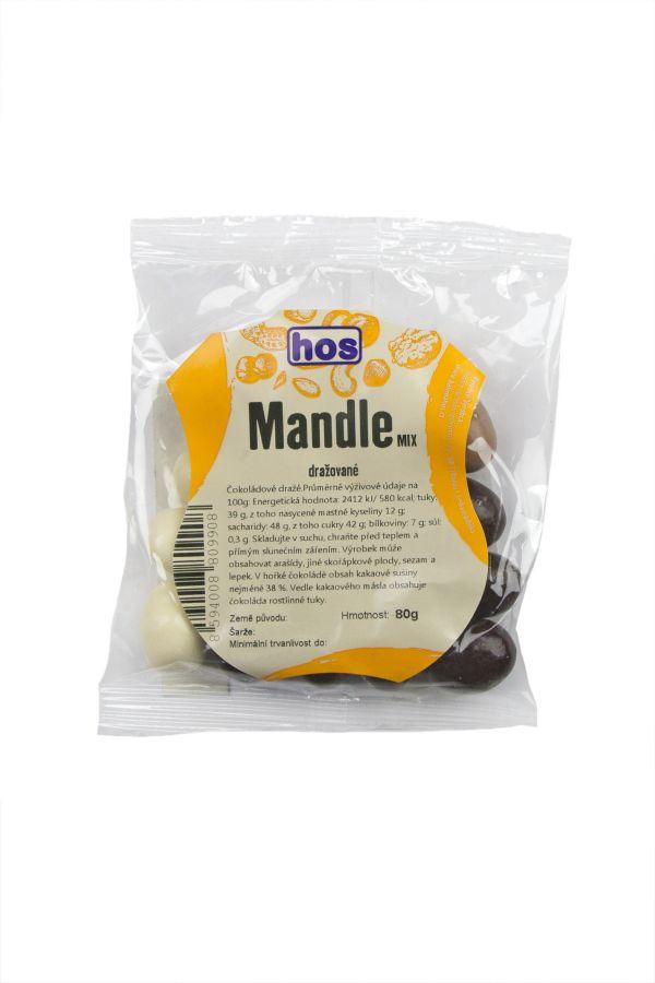 Mandle dražované mix 80g