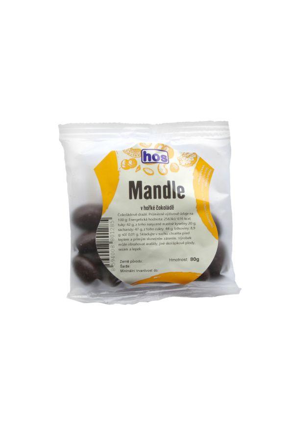 Mandle v hořké čokoládě 80g