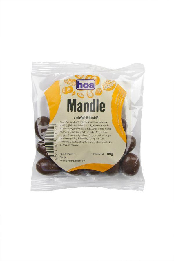 Mandle v mléčné čokoládě 80g