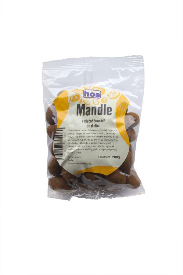 Mandle v mléčné čokoládě se skořicí 200g