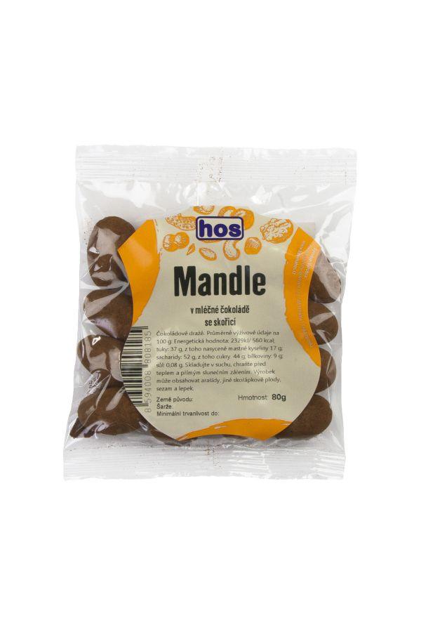 Mandle v mléčné čokoládě se skořicí 80g
