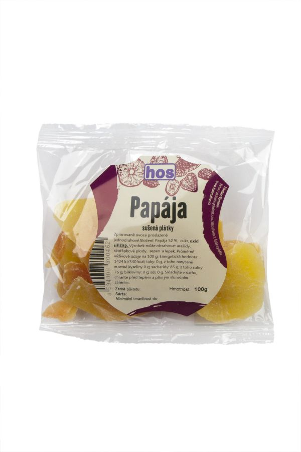 Papája sušená plátky 100g