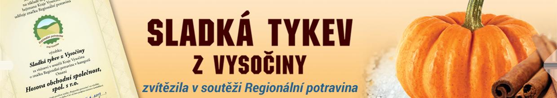 Sladká tykev z Vysočiny – Regionální potravina